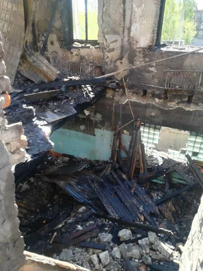 После пожара дом Ноградская 11